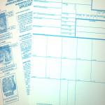 FBI Ink Fingerprint Cards (8 Total)